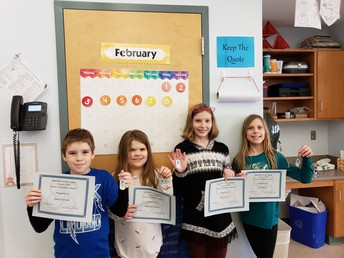 4th grade Perfect Attendance - January