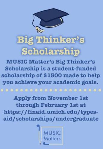 U of M MUSIC Matters Essay - Due Feb 1st at 5 p.m.