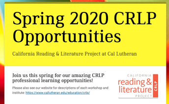 LEARN ALL ABOUT OUR SPRING 2020 TRAININGS AND INSTITUTES!