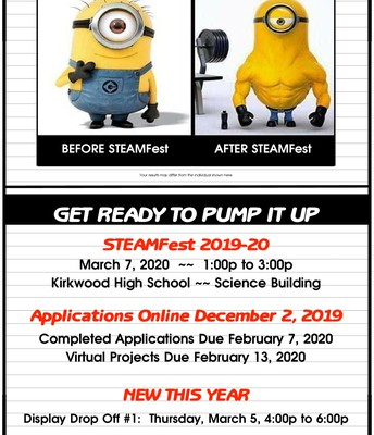 KSD STEAMFEST Applications Now Available!