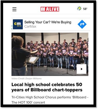 "billboard ""The Hot 100"" - Fall Chorus Concert"