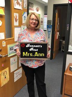Ann Sanders - Bennett's Best Recipient