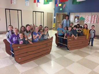 1st Grade boats for 'A for America!'