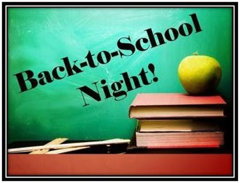 Back to School Night, Grades 2-6, 9/4