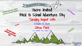 CORONA Back to School Adventure Park Day!