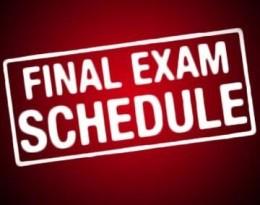Finals' Schedule