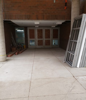Main Entry to the Building