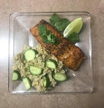 Salmon with Cauliflower Rice by Kristin Johnson