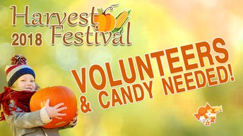 VOLUNTEERS AND CANDY NEEDED!