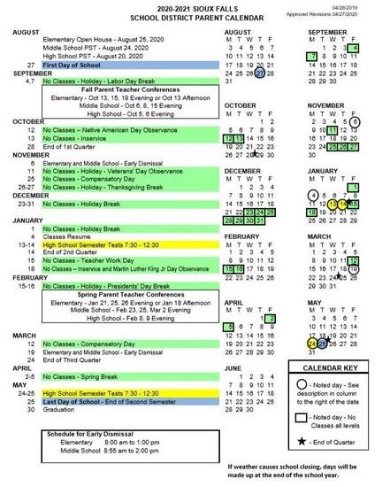 District Parent Calendar