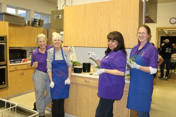 Staff Members Liven Up the Kitchen