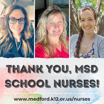THANK YOU, MSD SCHOOL NURSES!