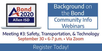 Sign up Today for the Final Bond Background Meeting