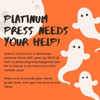 The Platinum Press Needs Your Spooky Halloween Photos!