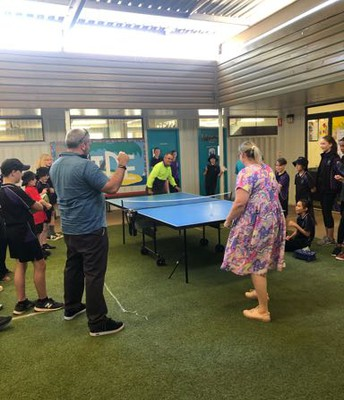 Mrs Onwuegbule has a secret ping pong talent!