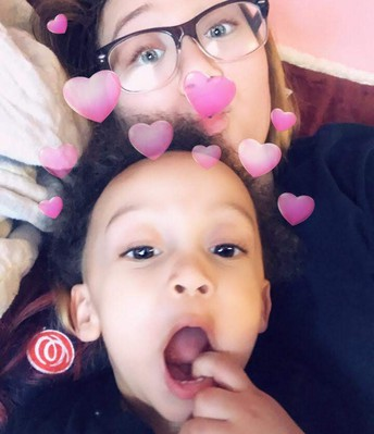 My daughter Kristen and her son Marques