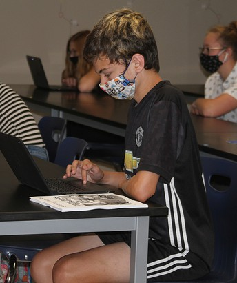 LHS Student at Computer