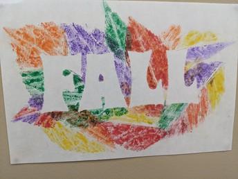 Leaf Art at Stettler Outreach School
