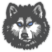 breckenridge community schools huskie logo
