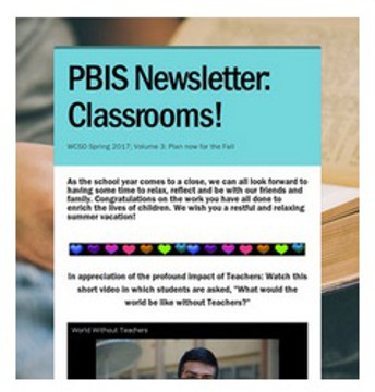 2016-17 Spring Newsletter:  Classrooms!