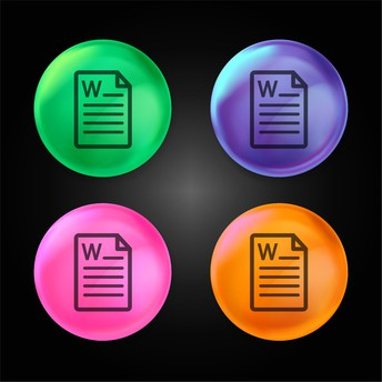 Microsoft Word icons on a bubble