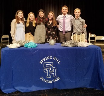 Spring Hill Junior High Inducts NJHS Members