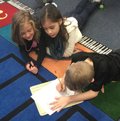2nd Graders are creating sound stories.