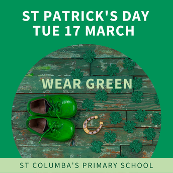 Wear green on St Patrick's Day - Tue 17 March