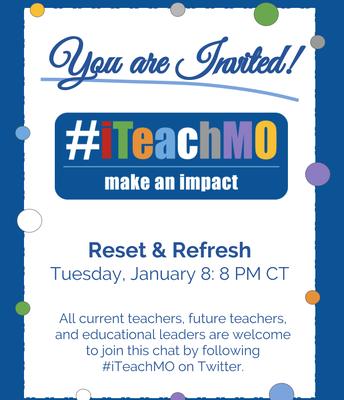Tuesday, January 8, 8CT #iTeachMO