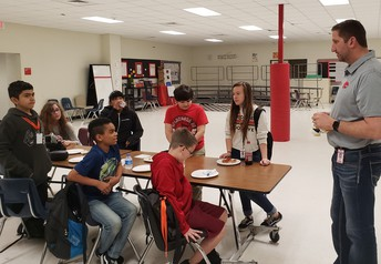Superintendent Burke meets with SJH Advisory Council.