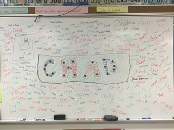 The CHADs left a calling card for Ms. Cowan