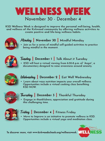 Wellness Week: November 30-December 4