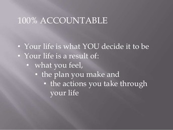 Growth Mindsets - The 7 Mindsets - 100% Accountable
