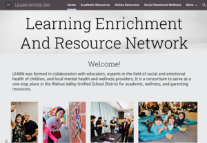 Superintendent Dr. Taylor on our district-wide Learning Enrichment And Resource Network.