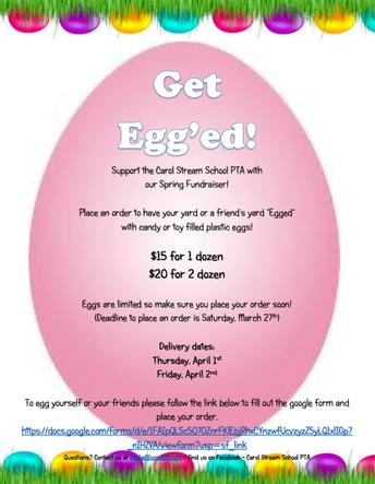"PTA Event- ""Get Egg'ed"""