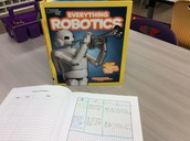 5th graders use informational text to research robots.