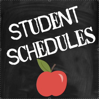 Student Schedules are available online via our Infinite Campus Parent and Student Portals!