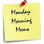 Monday Morning Memo