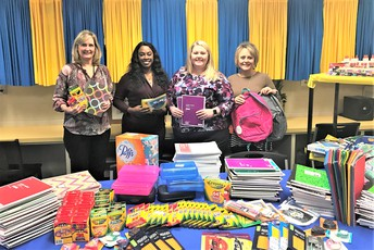 School Supplies Donated by the  Aiken & Bridges Law Firm