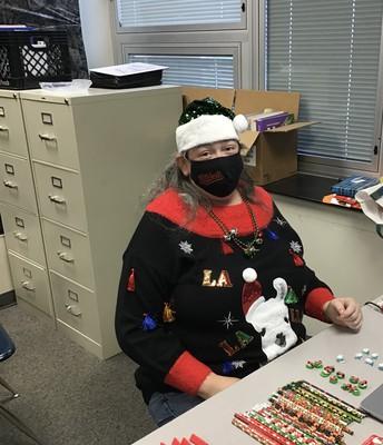 Ms. Ottman hard at work!