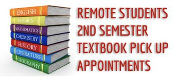 2nd Semester Textbook Pick Up for Remote Students Only
