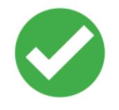 check mark in green circle