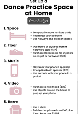 How To Set Up A Dance Practice Space At Home