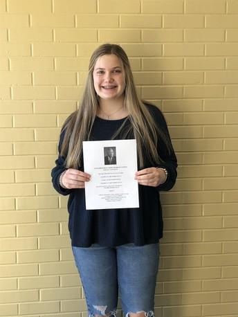 Congratulations to Claire Templin!