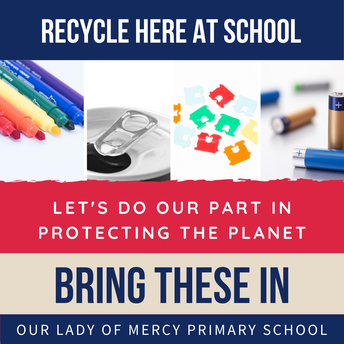 Bring in items for recycling