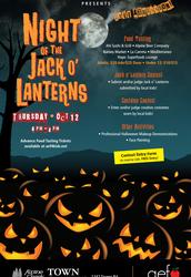 AEF'S NIGHT OF THE JACK O' LANTERNS