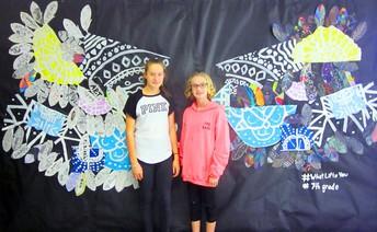 7th Grade Artists Assemble a Mural at Murray Avenue School