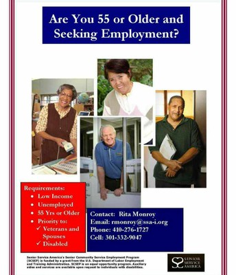 55 or Older and Seeking Employment