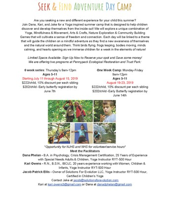 Seek & Find Adventure Day Camp
