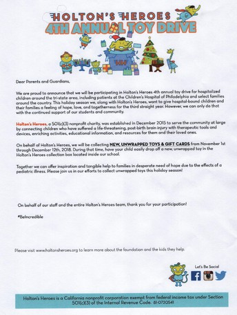 Holton's Heroes - OLGC Christmas Service Project - LAST CALL!